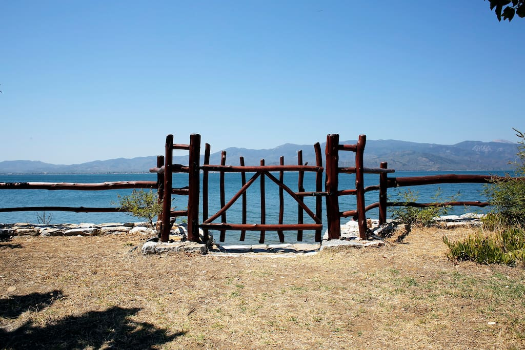 The gate to the beach