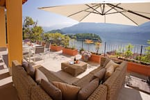 Relax on your spacious lake view terrace