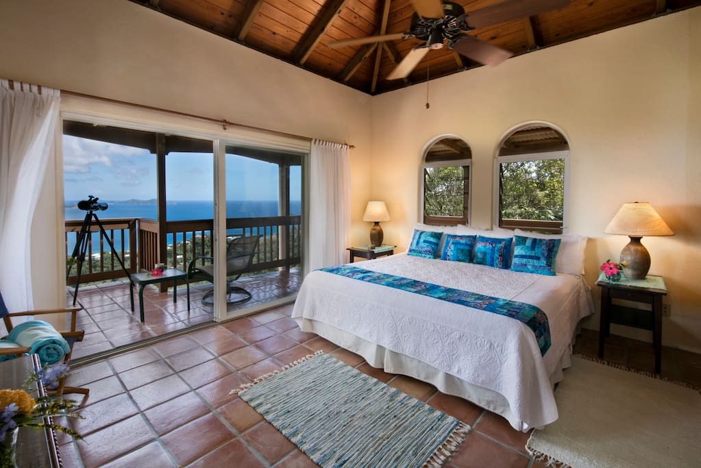 Two identical master suites with private outdoor showers and deck area