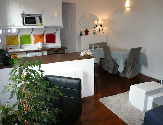 One metro station from Paris - Quiet 1 BR - Boulogne-Billancourt