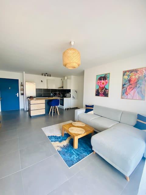 Appartement T2 48m2 à 5min de la plage
