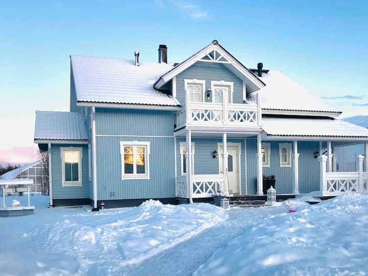 Private villa close to nature and Santa Claus