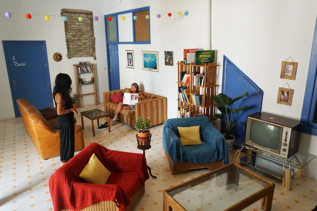 Living Room witih Library