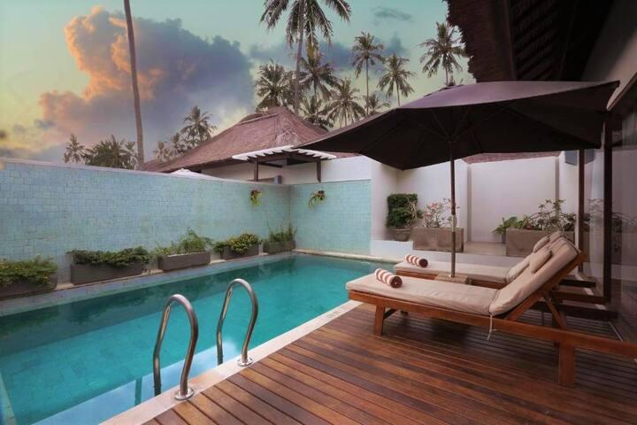 A  1 BR Private Pool Villa at a beachfront resort