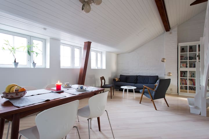 Large room in a jugend penthouse