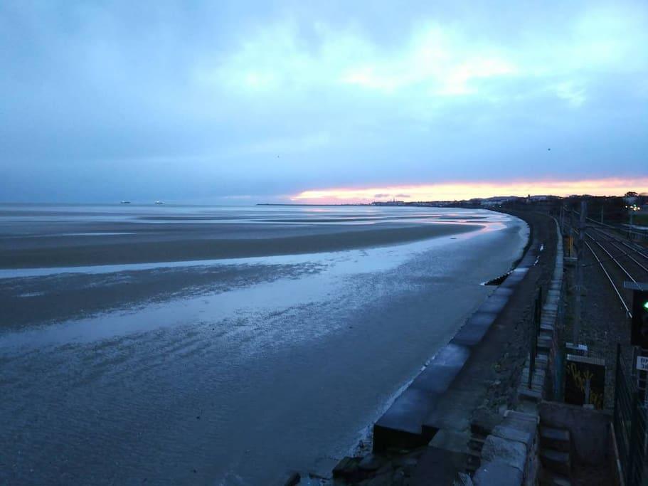 Booterstown beach Sun rises