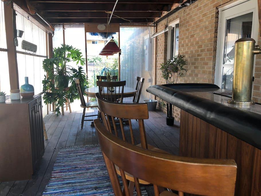 Sunroom & 420 Friendly Smoking Lounge with bar