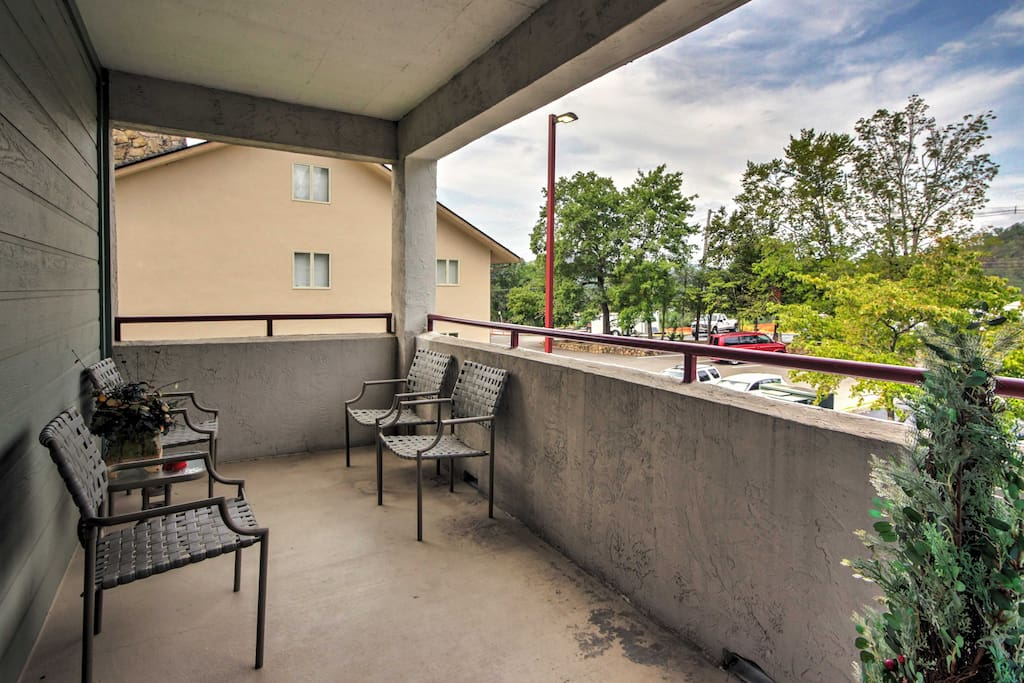 Early risers will love enjoying their morning coffee on the private balcony.