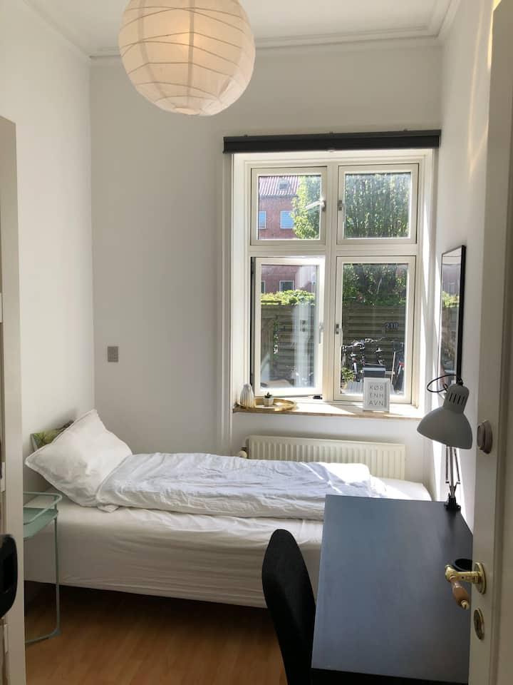 Great and cozy room in ground floor apt.