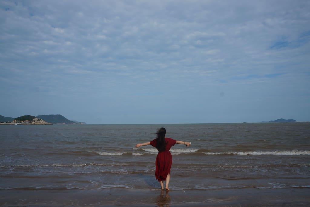 大海,蓝天,沙滩