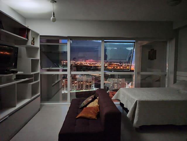 Apartamento confortável com vista panorâmica