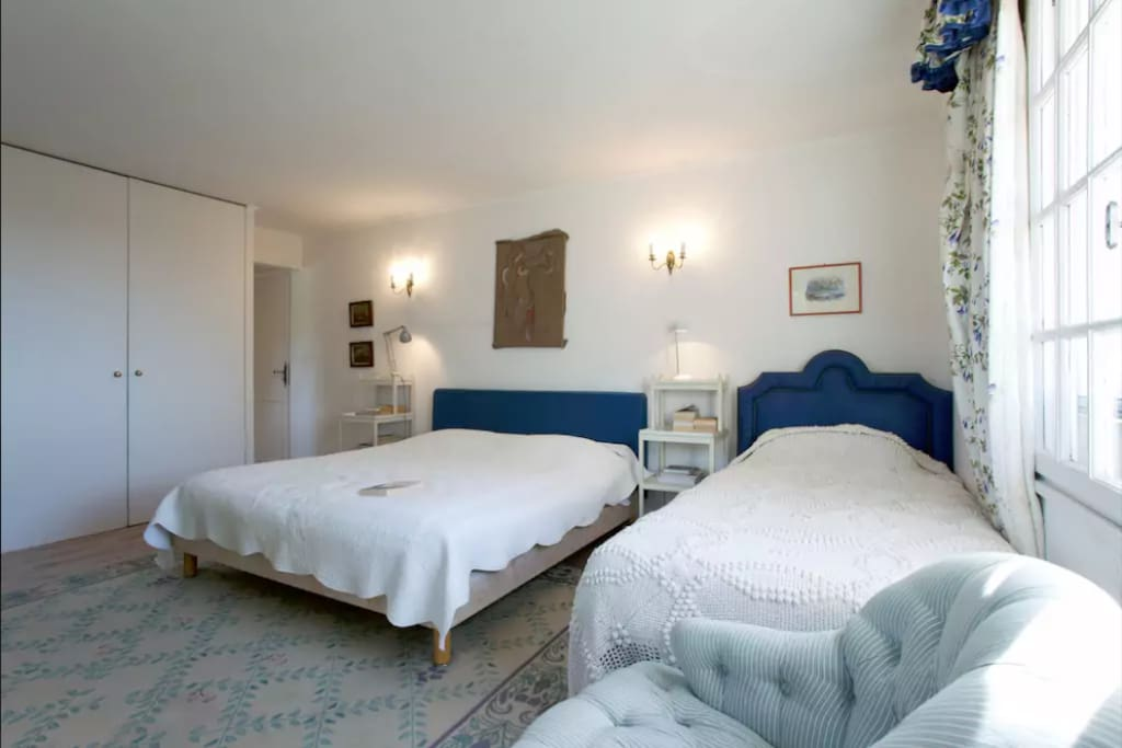 Room 1 with king and single beds
