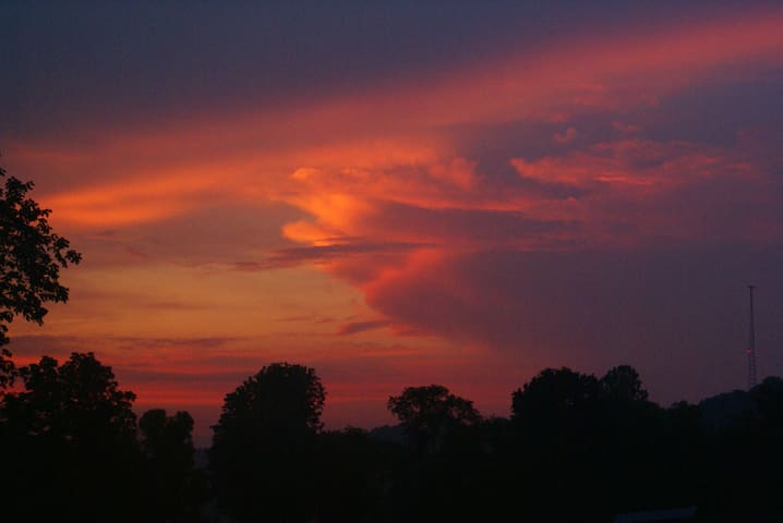 Gorgeous sunsets and summer storms!