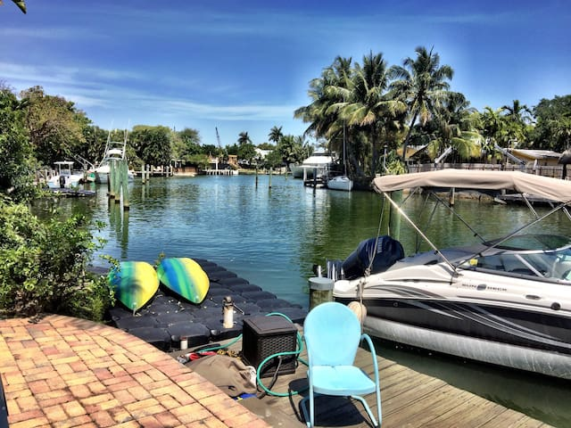 Dock area; view from back yard - Little River