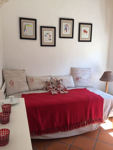 Granny Mouse bedroom with a single bed for relaxing, reading or for a campcot