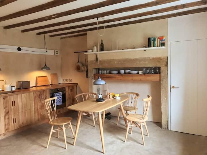 Ecologically restored Northumbrian stone cottage