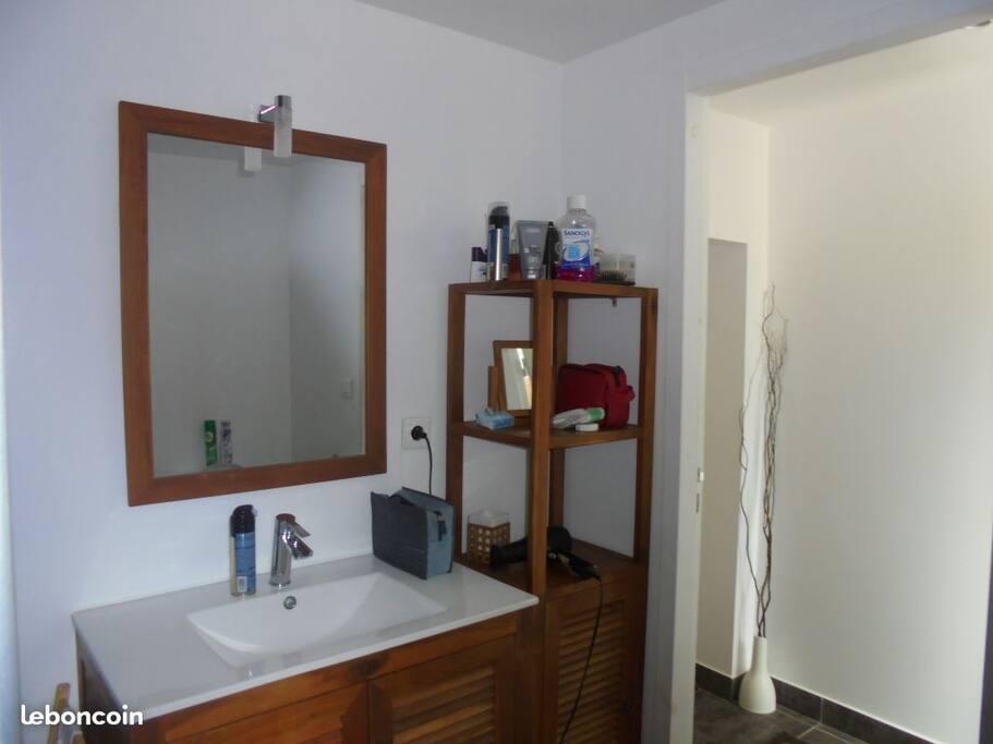 Salle de bain avec douche à l'italienne