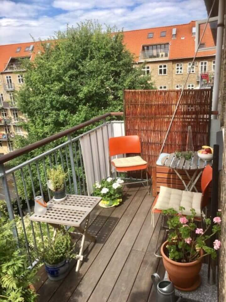Sunny top flat Cph/Nørrebro