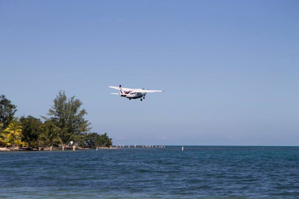 Maya Island Air coming in for your visit to Placencia