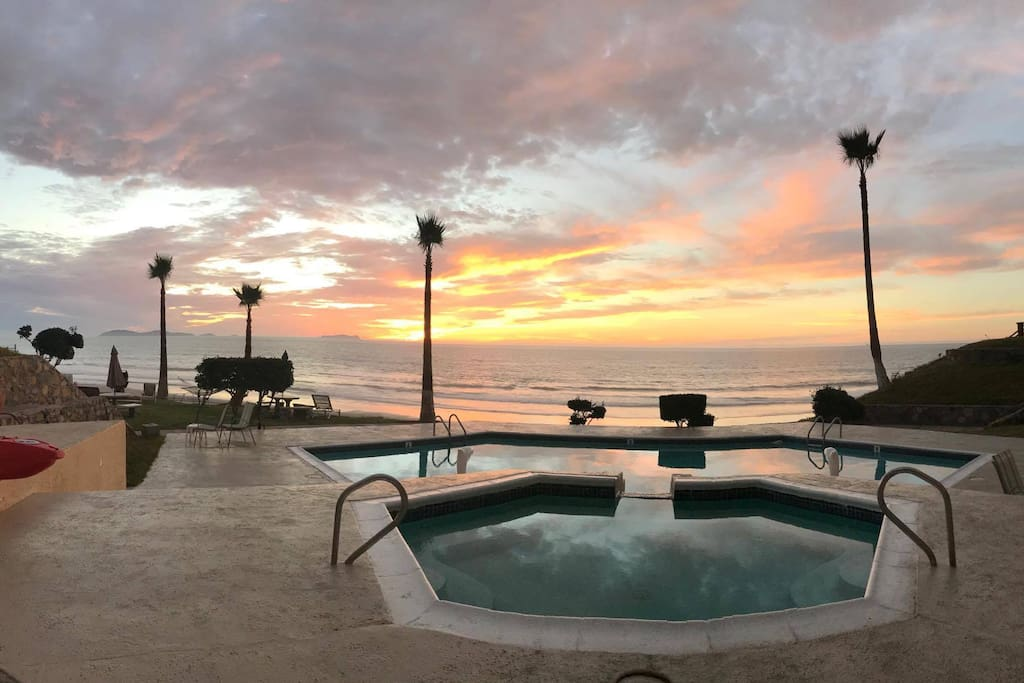 Pool or ocean?  It's your choice.
