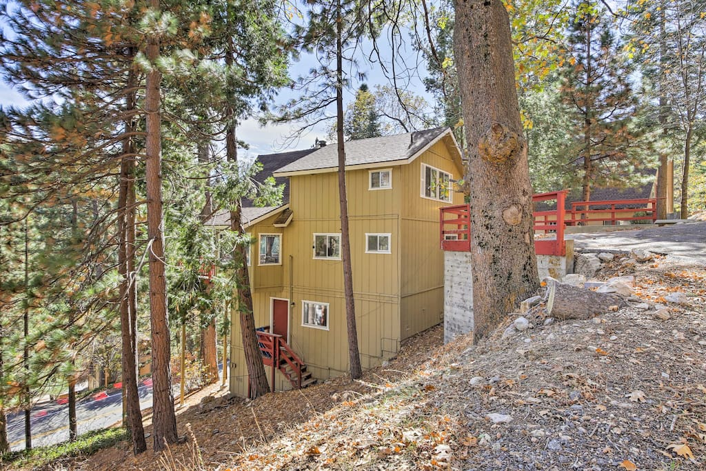 Nestled in the treetops of San Bernardino Forest, this home provides access to dozens of trail heads and beaches.