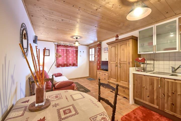 Cosy studio in a typical savoyard village