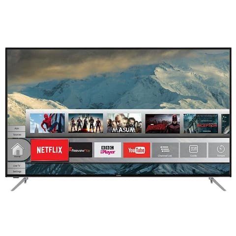 65 inch TV with Netflix and satellite TV.