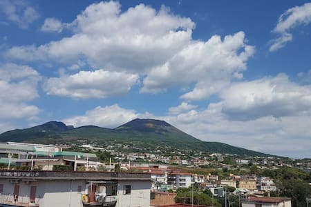 Apartment & terrace with stunning panoramic views - Ercolano - Apartemen