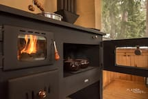 have you try to cook on wood stove?