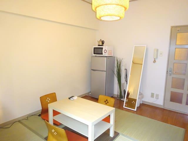 中州近くでサクッとお手頃ステイ♪キャナルも徒歩2分♪01 - Hakata Ward, Fukuoka - Apartamento