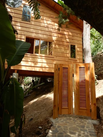 Side view of cabin.