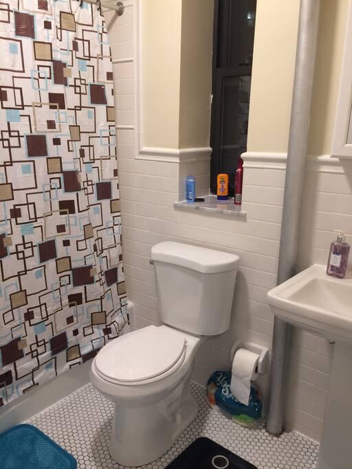 Bright clean bathroom