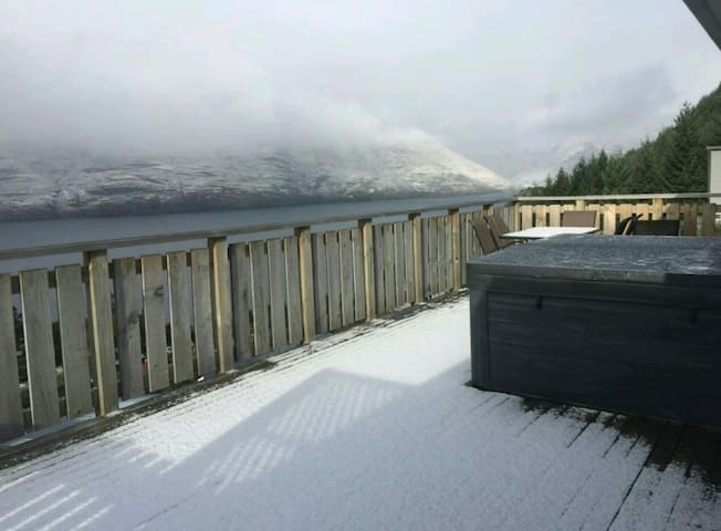 Brilliant views from hot tub