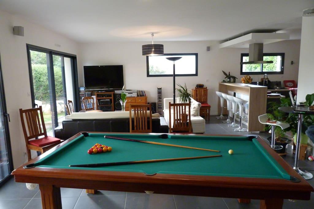 Grand billard pro Snooker, Pool et Français pour les grands...