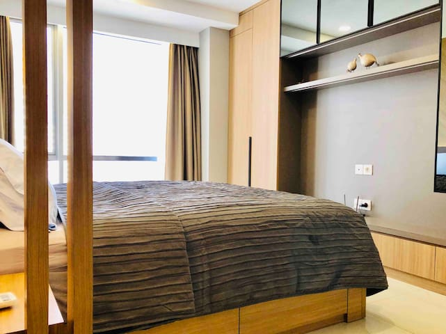 Master bedroom with double bed king size
