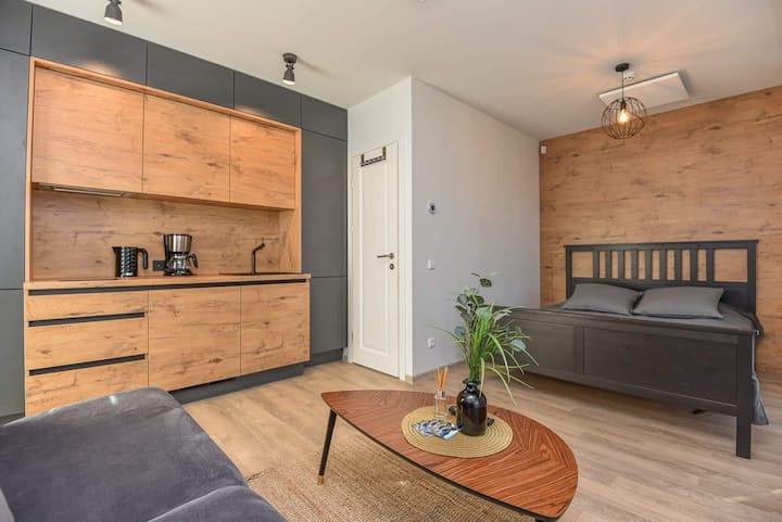 AMBER sea studio apartamentai su terasa pajūryje