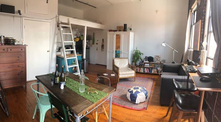 Exposed brick Loft apartment