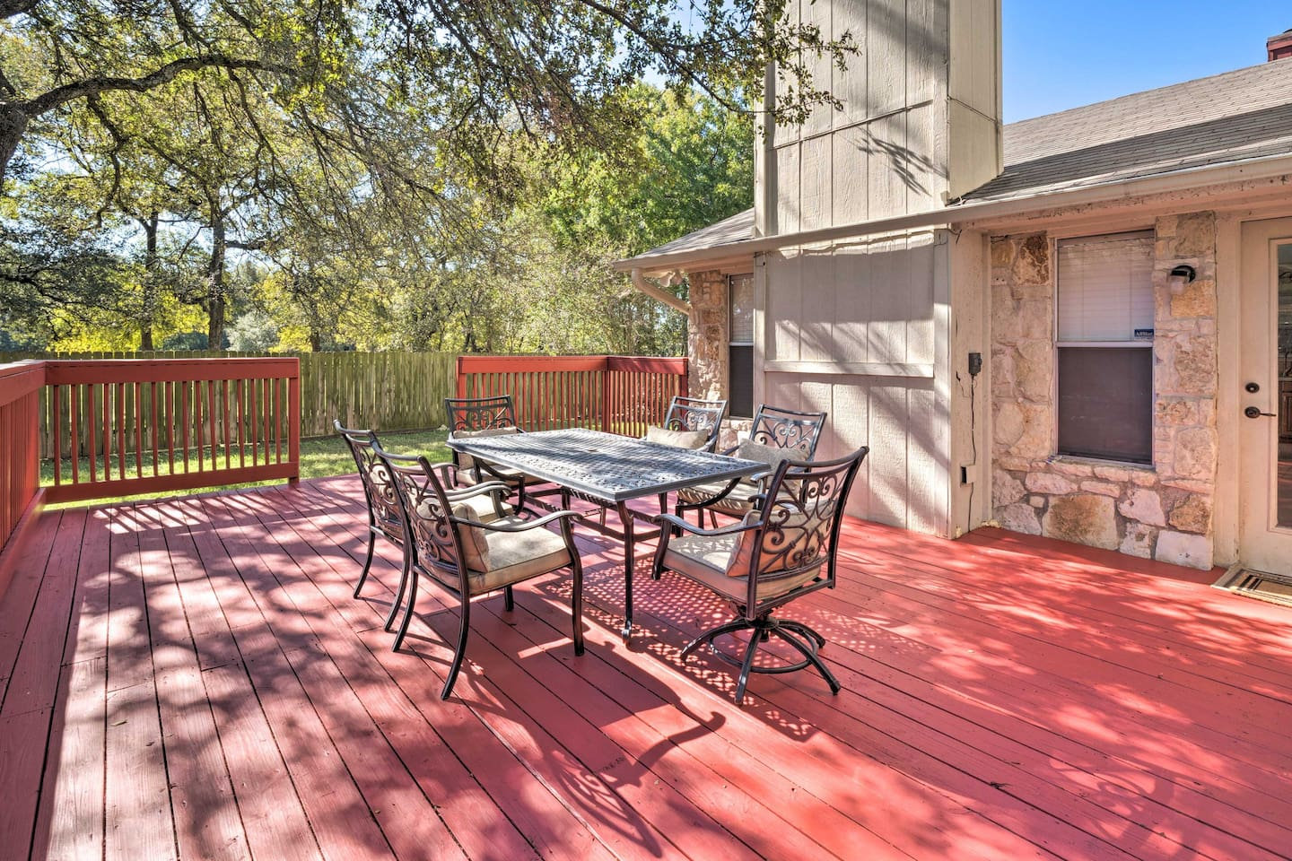 This 3-bedroom, 2.5-bath Austin house sleeps 8 guests in comfort.