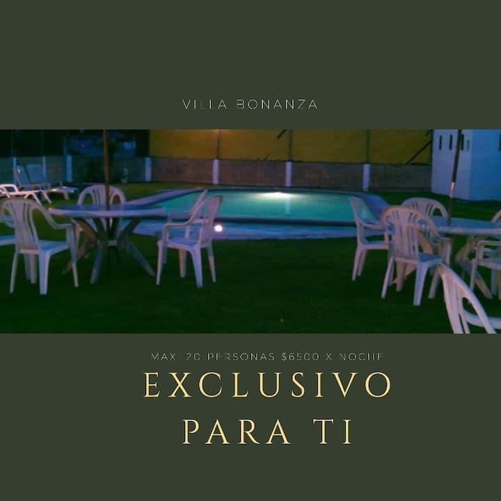 Villa Bonanza, exclusivo para ti. (de 16 a 20 p)