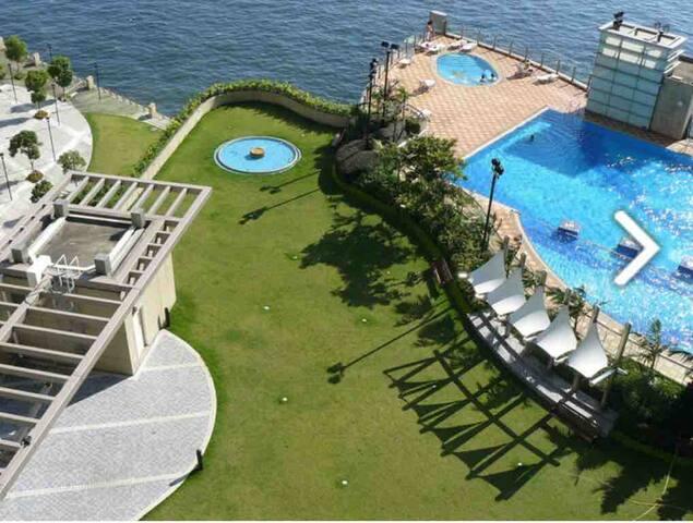 奧運獨有人氣公寓,近機場尖沙嘴旺角 可住6人海景房,無敵海景泳池、免費桑拿,五星級會所體驗