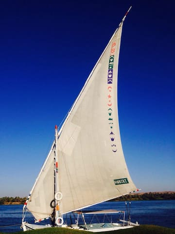 Sail from our Felucca