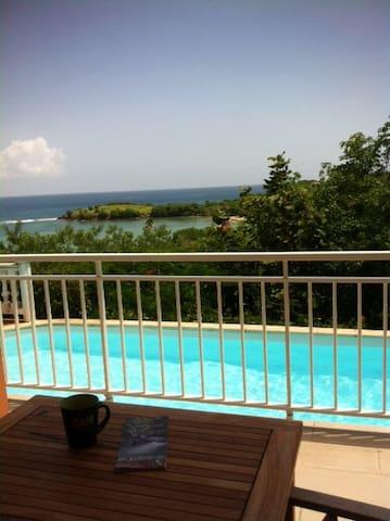 Magnifique vue mer, accès direct piscine et plage - Arrondissement of La Trinité - Dům