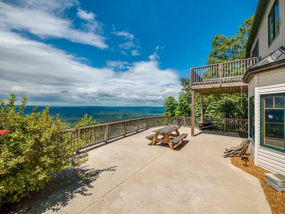 -I came to Chattanooga to participate in the Ironman triathlon race. The house was amazing and the views from the back porch and deck were just stunning