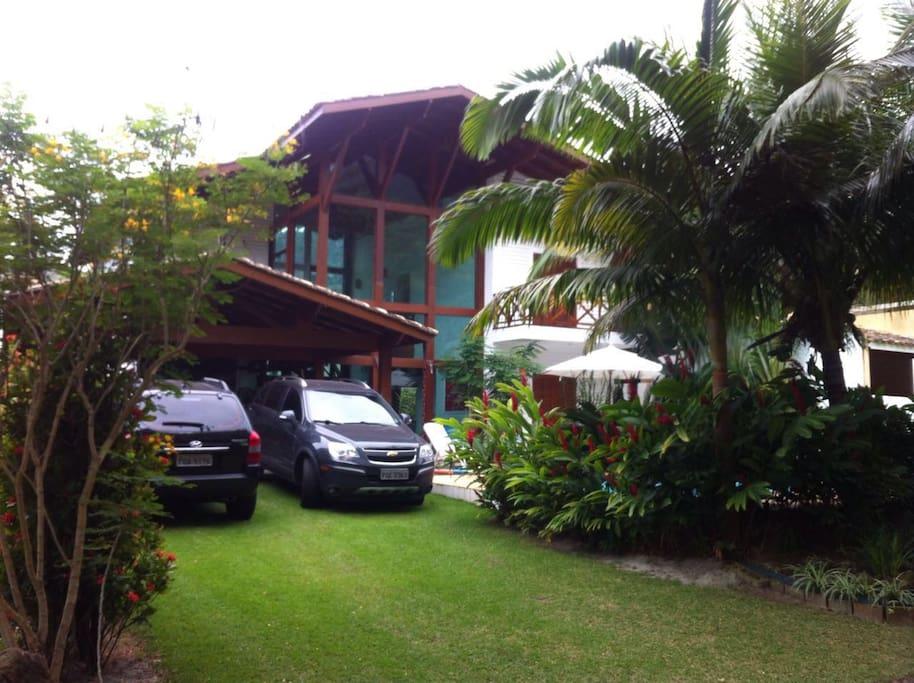 Vista da entrada da casa