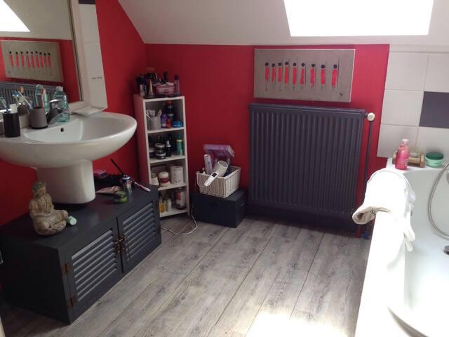 Chambre avec piscine près golf Arras - Anzin-Saint-Aubin - Haus