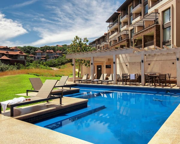Zimbali Suites pool and braai area