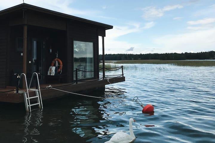 Saunaboat near Helsinki