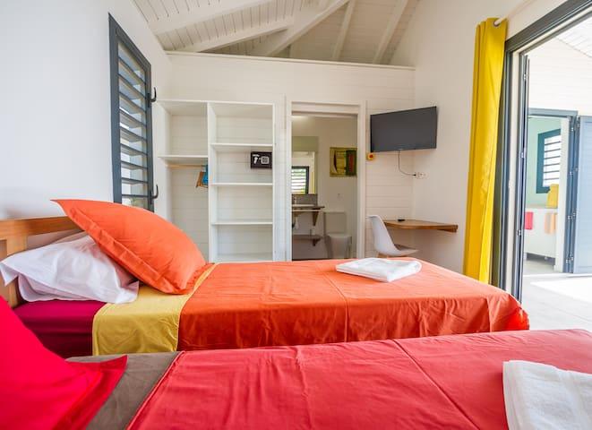 Iguane House Villas & micro spa villa Lagon chambre