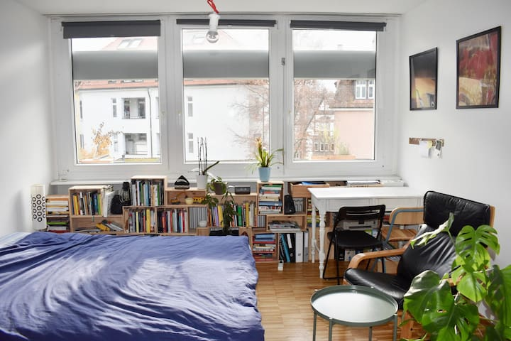 Cosy and bright studio in a residential area