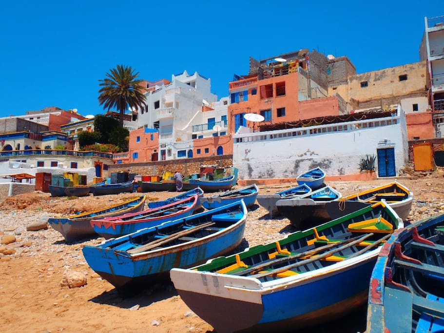 taghazout fishing boats